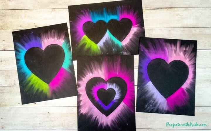 Chalk pastel heart art