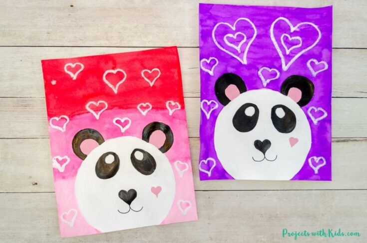 Adorable Panda Art Project for Valentine's Day