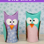 Paper roll winter owls craft
