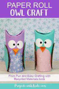 Paper roll winter owls craft