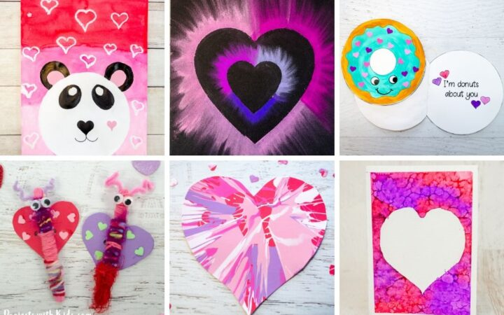 Valentine's Day arts and crafts for kids to make.