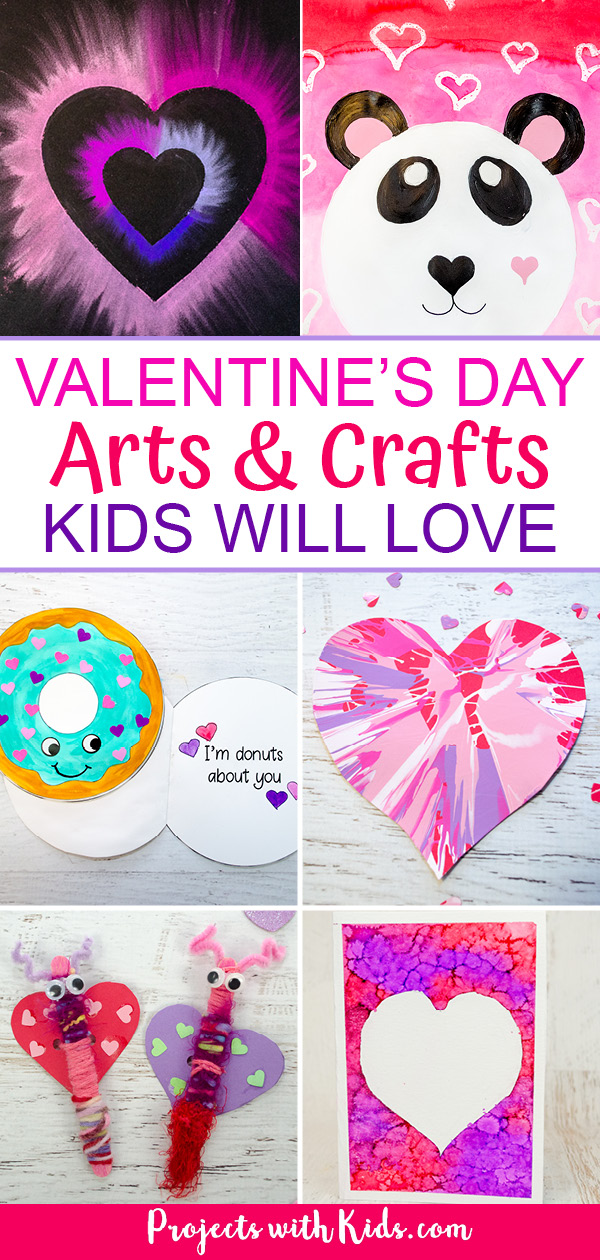 Valentine's Day arts and crafts for kids to make