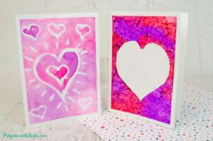 watercolor valentine cards for kids to make