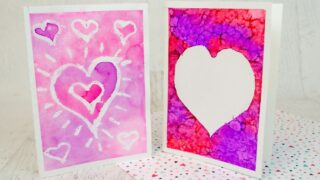 Easy Watercolor Valentine Cards for Kids to Make