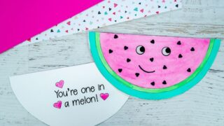 How to Make an Easy Watermelon Valentine's Day Card
