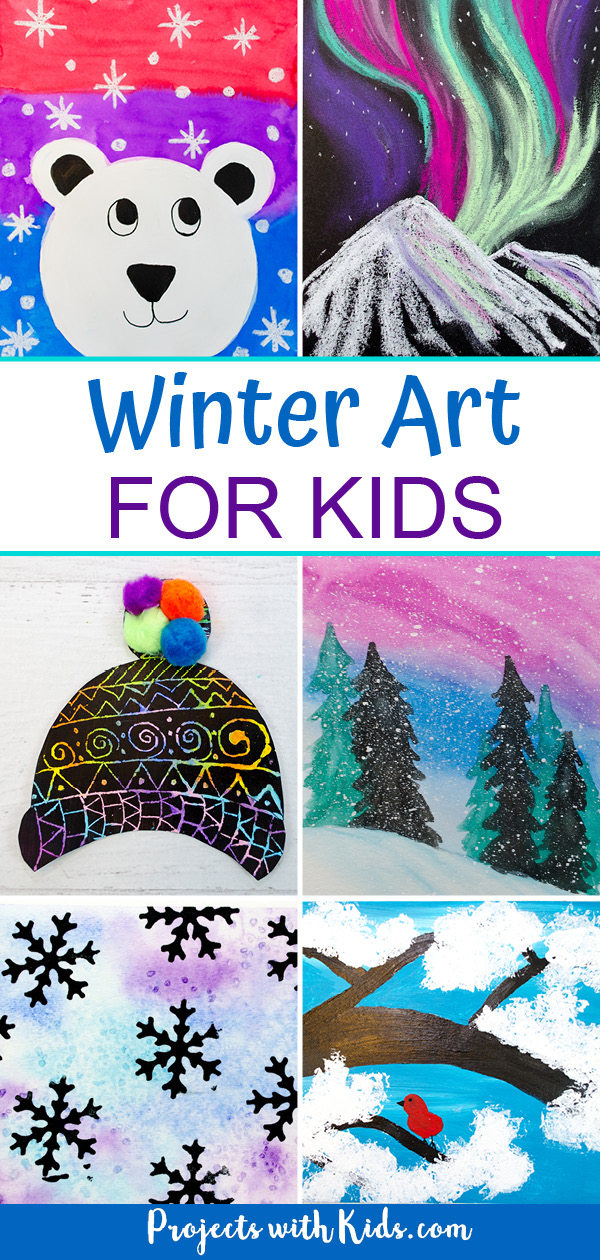 Winter art for kids to make