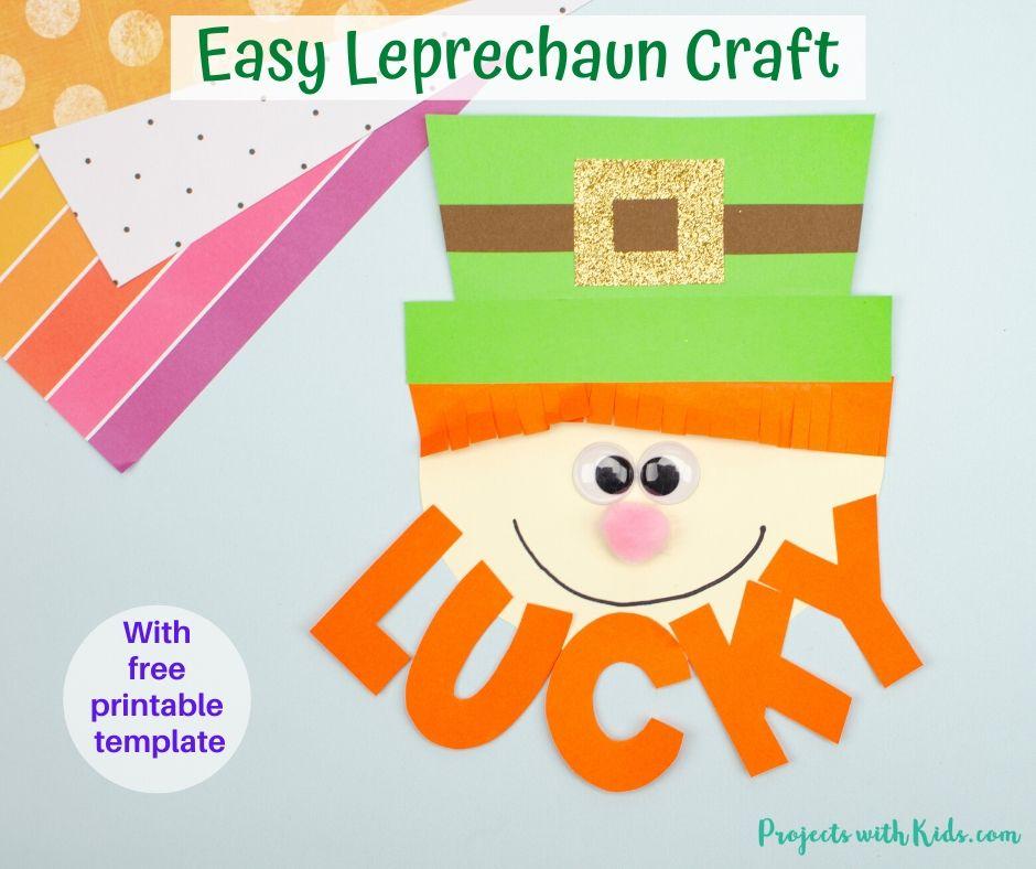 Leprechaun paper craft for St. Patrick's Day