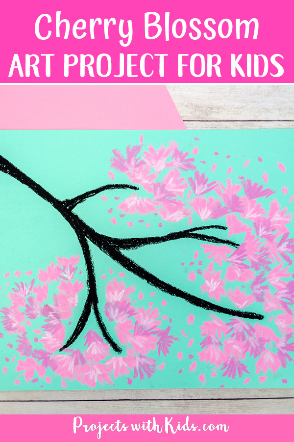 Cherry blossom pastel project for spring