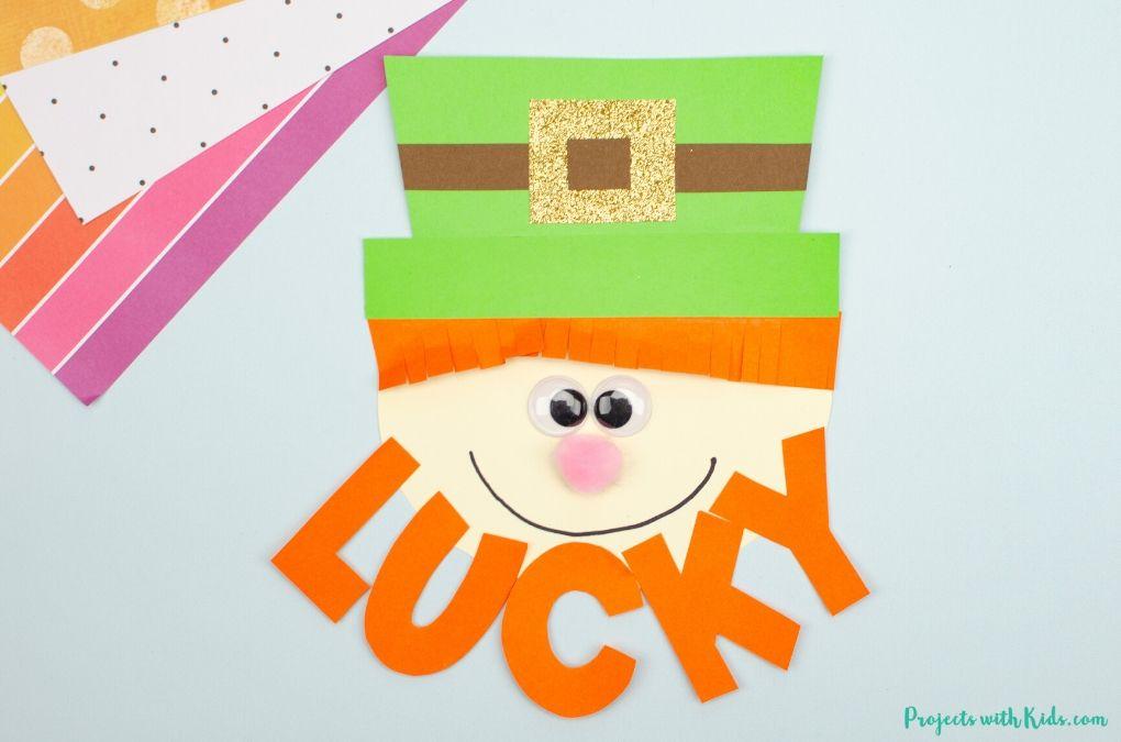 Paper leprechaun craft for St. Patrick's Day