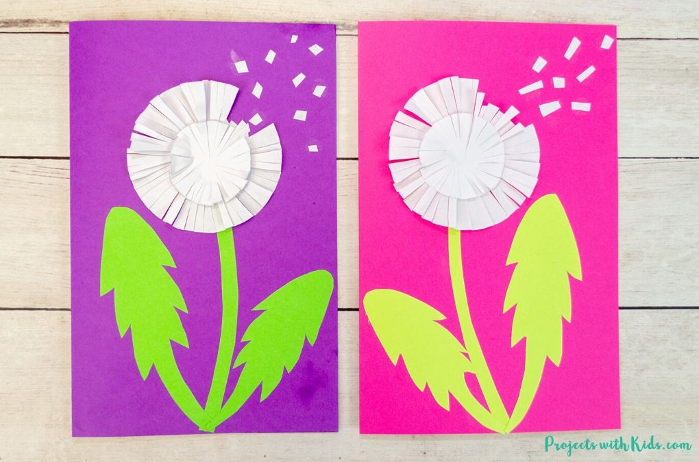 paper dandelion craft