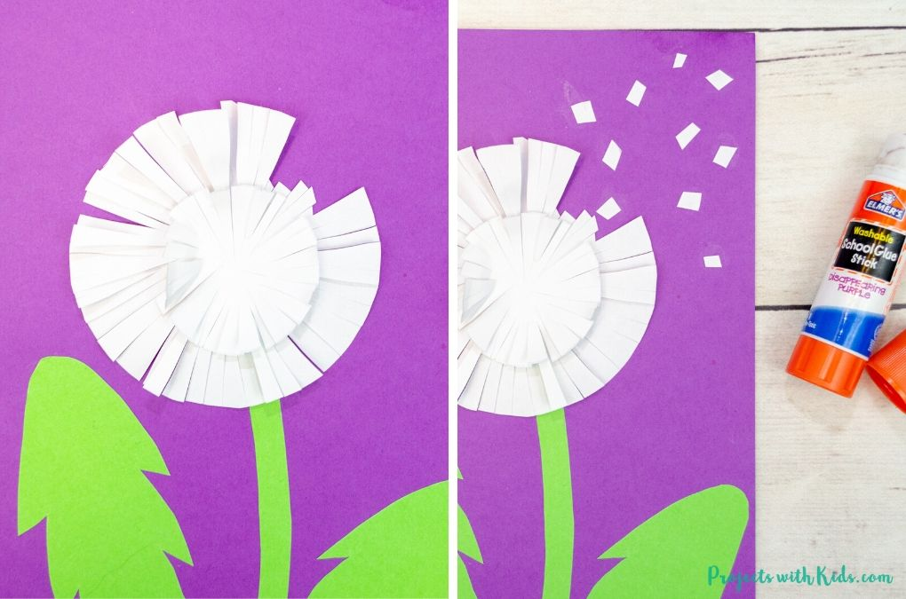 Paper dandelion card