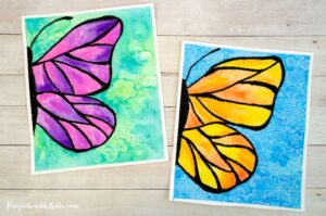 Watercolor butterfly painting