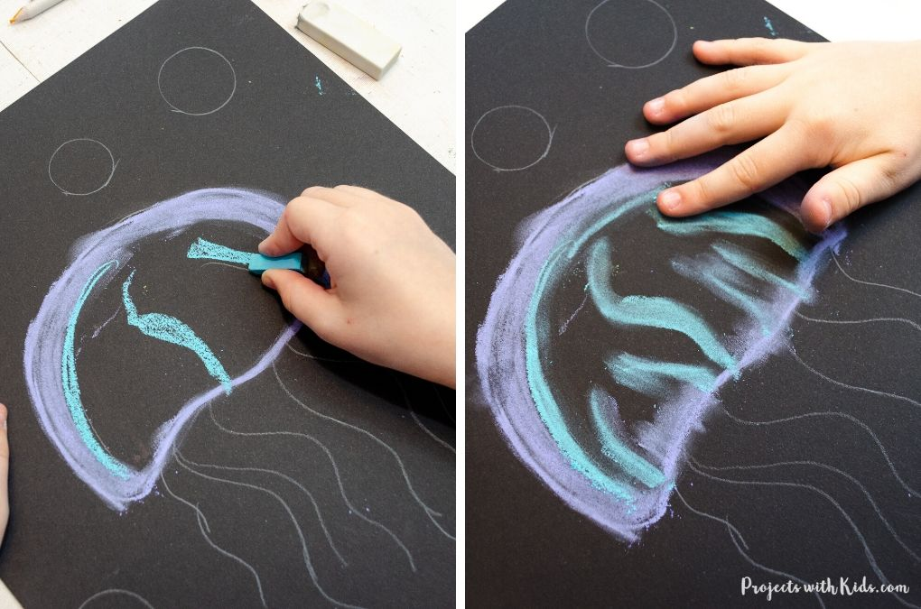 Drawing and blending with chalk pastels
