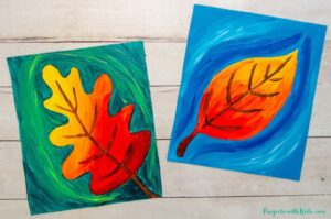 Autumn art project for kids.