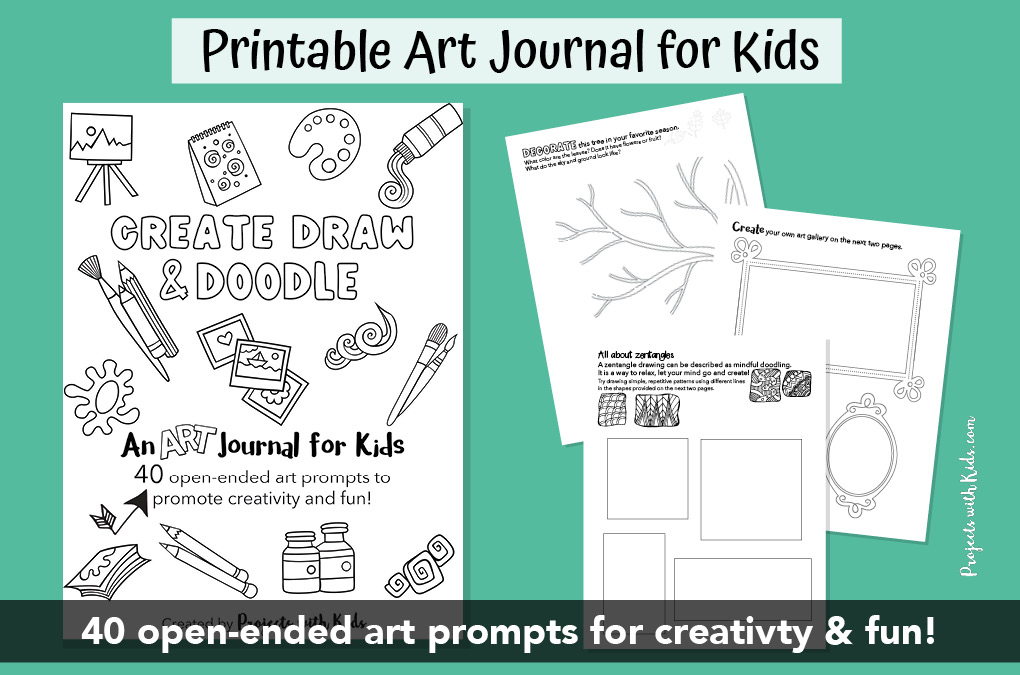 Printable art journal for kids
