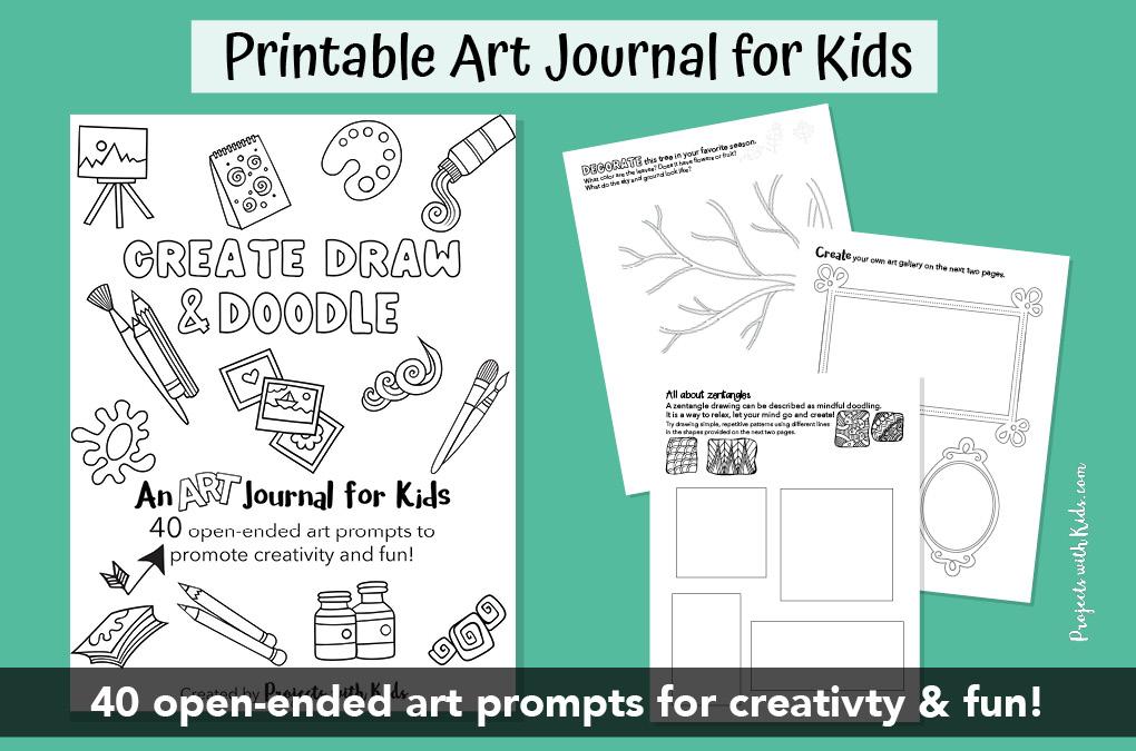 Printable art journal for kids