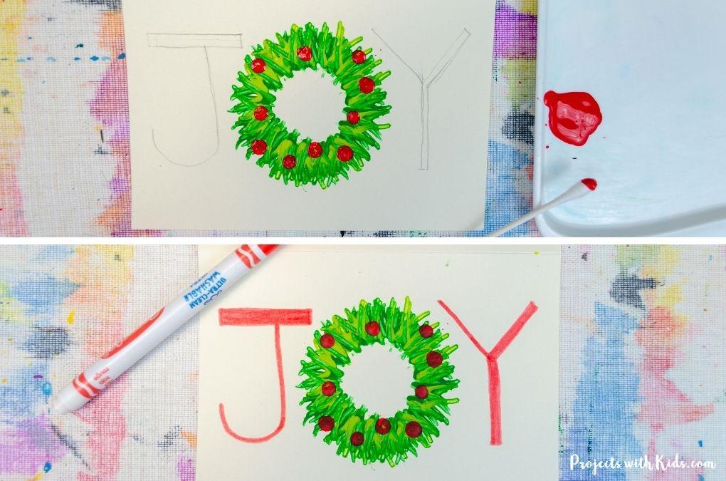 Handmade Christmas card idea for kids
