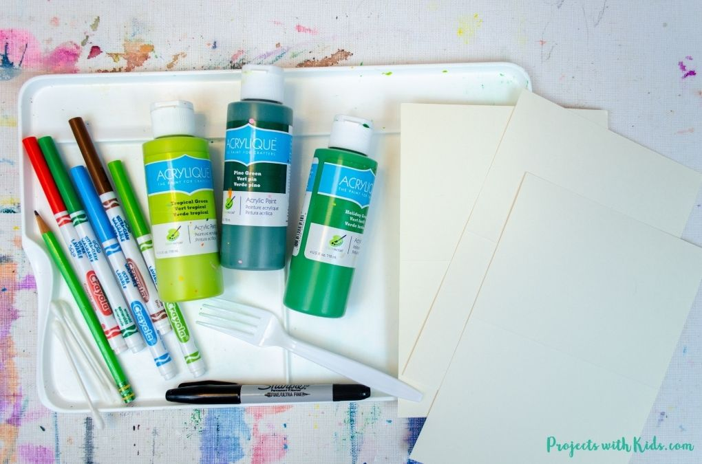 Acrylic painting supplies