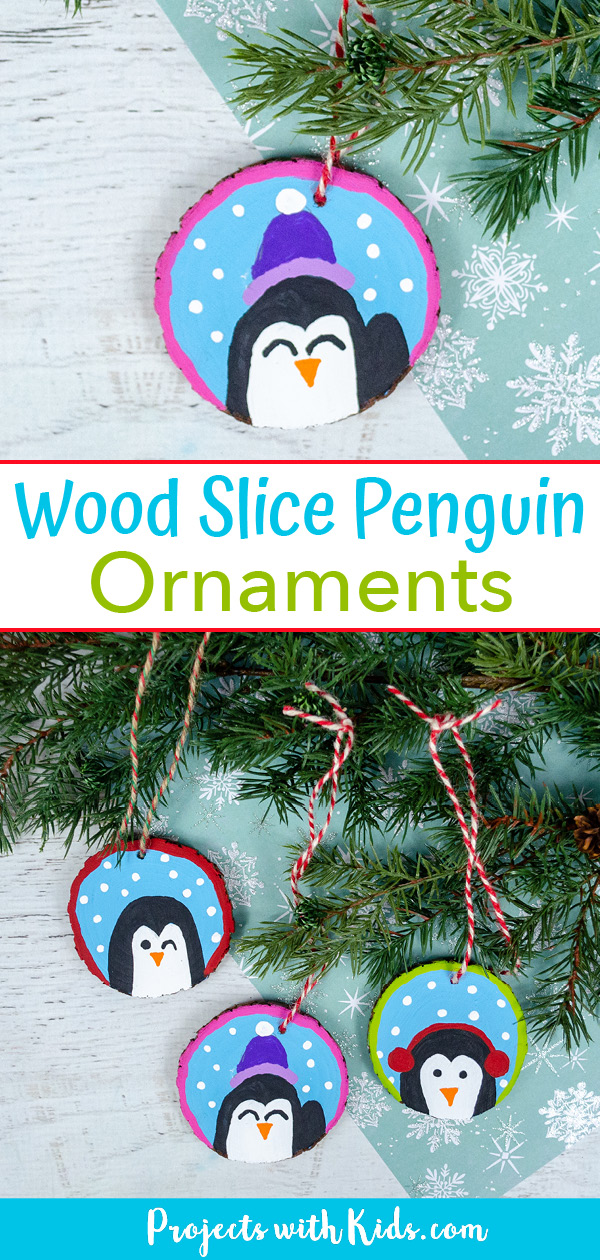 Penguin ornament craft for kids to make