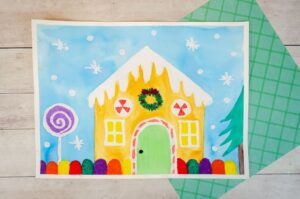 Gingerbread art project for kids to make