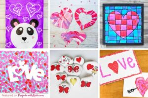Valentine's Day painting ideas for kids make.