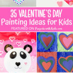35 Valentine's Day painting ideas for kids to make.
