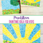 Pointillism for kids art project inspired by Georges Seurat