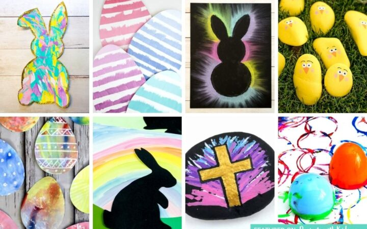Easter painting ideas for kids to make