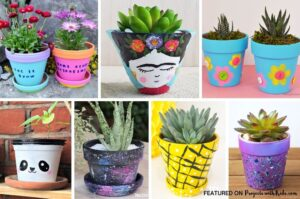 flower pot painting ideas for kids to make
