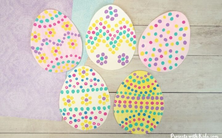 Painting a design onto paper Easter egg templates