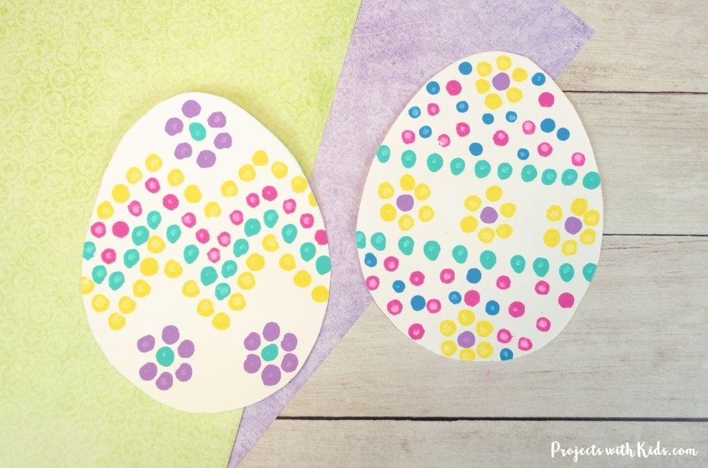 q-tips Easter egg painting idea for kids