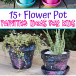 Flower pot painting ideas for kids