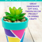 painted flower pots tween craft idea for spring or summer
