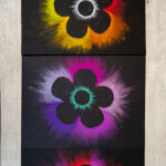 Chalk pastel flower art project for kids to make
