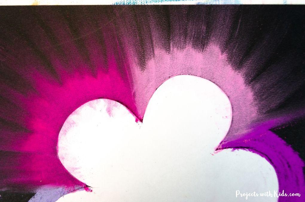 Smudging chalk pastels