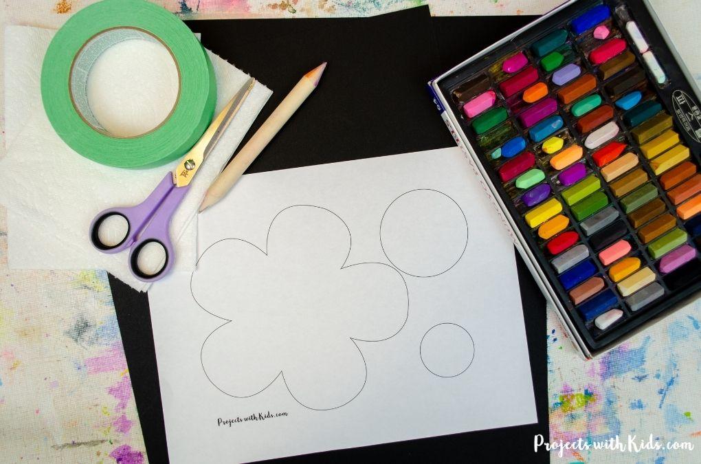Chalk pastel supplies