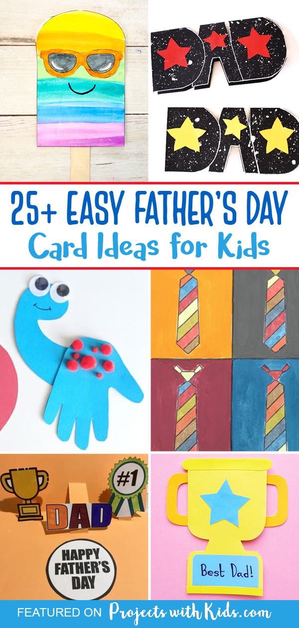 Easy Father's Day cards for kids to make