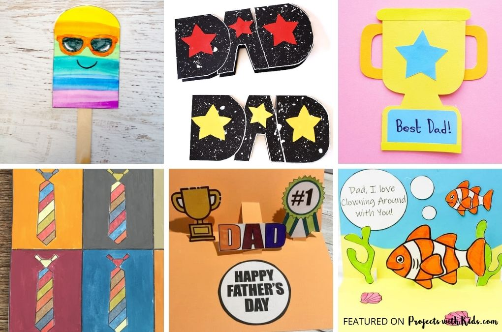 Father's day card ideas for kids to make