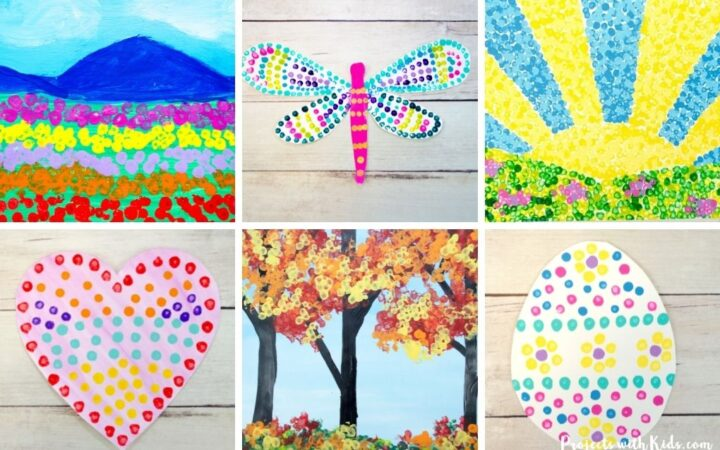 Q-tip painting ideas for kids to make