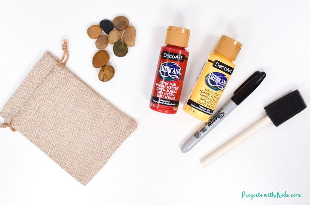 Rocks painting supplies