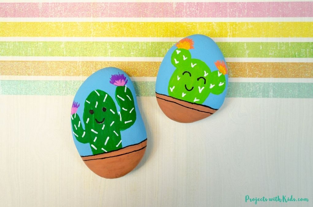 Rock painting idea for kids and tweens