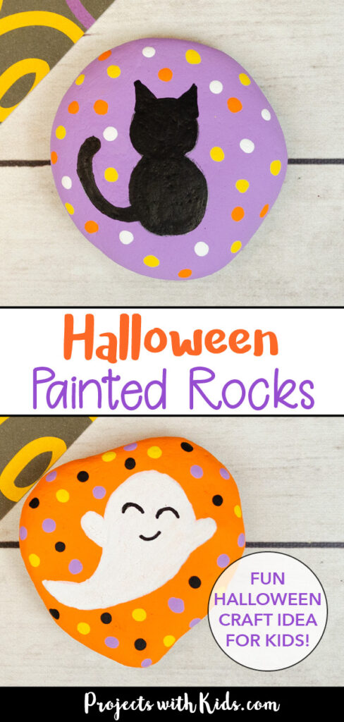 easy halloween painted rocks craft idea for kids