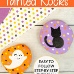 easy halloween painted rocks for kids to make