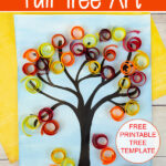 mixed media fall art project for kids